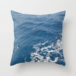 Texture of green-blue sea water in the Aegean Throw Pillow