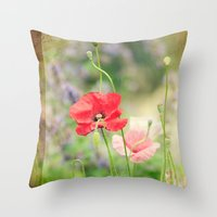 notebook Throw Pillows featuring A gardeners notebook by Wood-n-Images