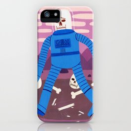 Sad Spaceman iPhone Case