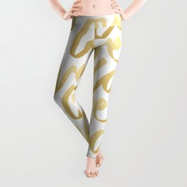 Love Gold White Type Leggings