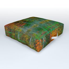 Forest and Lake Reflection Outdoor Floor Cushion
