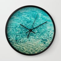 clear Wall Clocks featuring Crystal Clear by Juste Pixx Photography