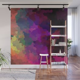 Multicolored abstract pattern . A firework of colors . Wall Mural