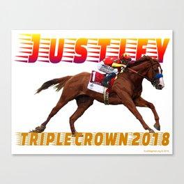 Justify Triple Crown Canvas Print