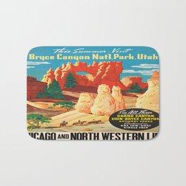 Vintage poster - Bryce Canyon Bath Mat