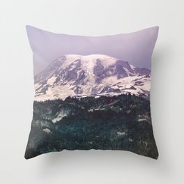 Mountain Wanderlust Adventure Mount Rainier Seattle II - Nature Photography Throw Pillow
