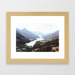 Overlooking Kinlochleven , Scottish Highlands Framed Art Print