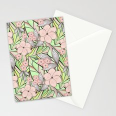 Delicate tropical floral pattern. Stationery Cards