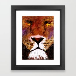 isabug's lion Framed Art Print