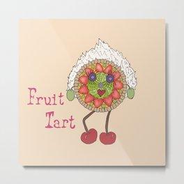 Fruit Tart Metal Print