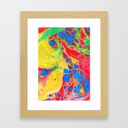 Marbling, Tie Dye Effect Abstract Pattern Framed Art Print