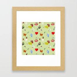 Favorites (with gingham) Framed Art Print