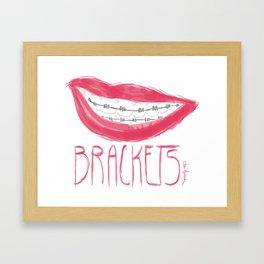 BRACKETS Framed Art Print