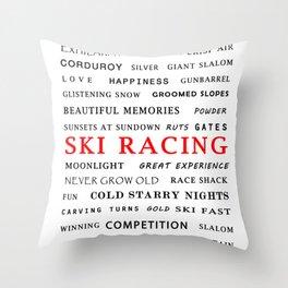 Ski Racing Throw Pillow