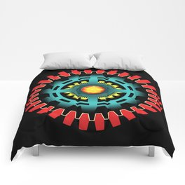 Abstract mechanical object Comforters