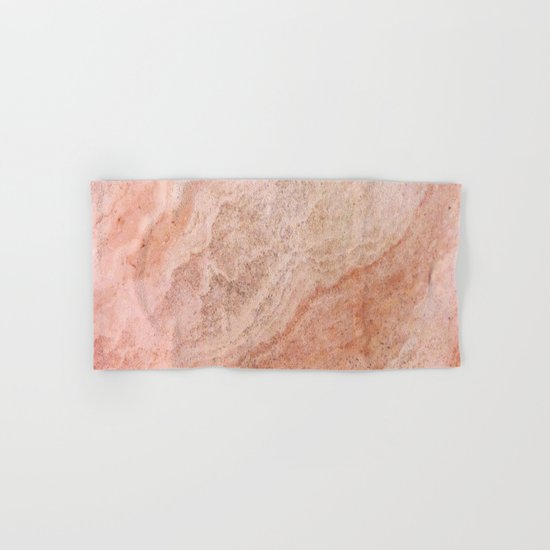 Polished Rose Gold Marble Hand & Bath Towel