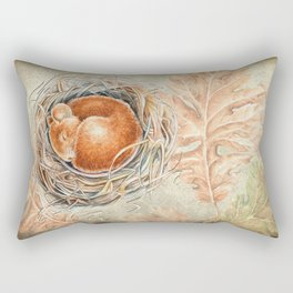 Mouse in the nest Rectangular Pillow