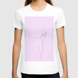 Lilac figure illustration - Jaden T-shirt
