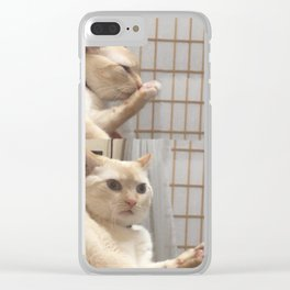 S T I N K Y footie Clear iPhone Case