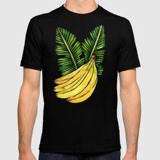 Banana Bunch – Green Leaves MEDIUM Black Mens Fitted Tee