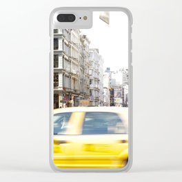 Yellow Cab Clear iPhone Case