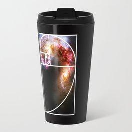Fibonacci Spiral Galaxy Travel Mug