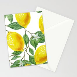 TROPICAL LEMON TREE Stationery Cards