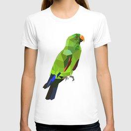 Eclectus parrot Geometric bird art T-shirt