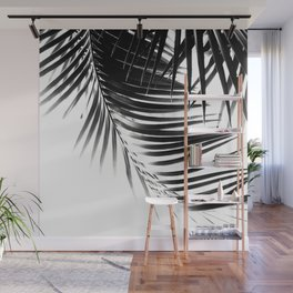 Palm Leaves Black & White Vibes #1 #tropical #decor #art #society6 Wall Mural