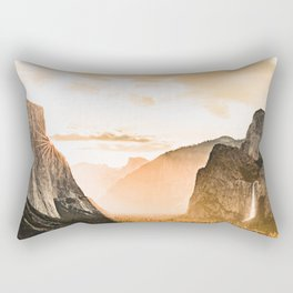 Yosemite Valley Burn - Sunrise Rectangular Pillow