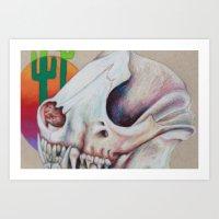 Gobi Desert Skull Art Print