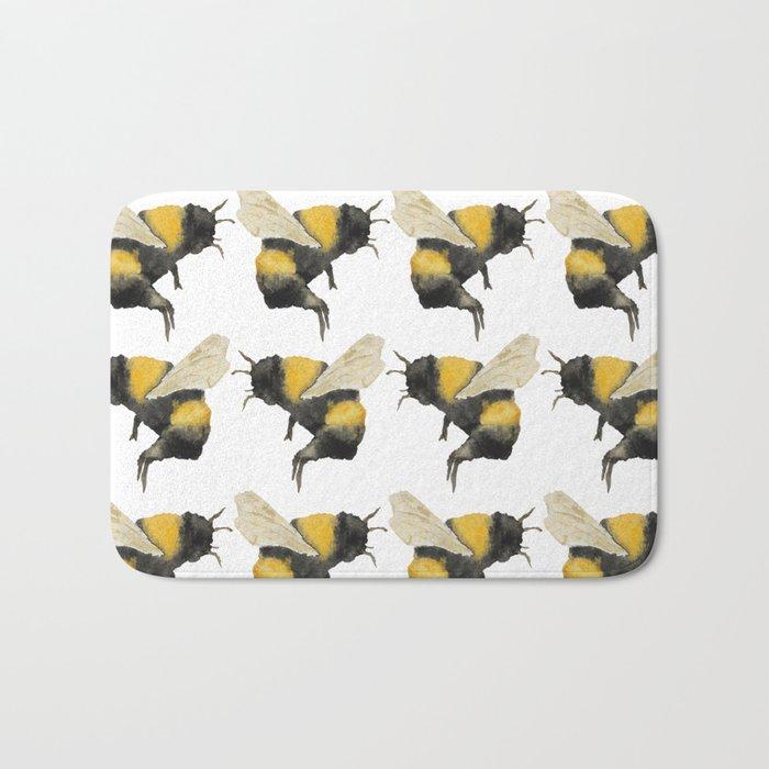 Dancing Bumblebees Bath Mat