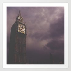 Big Ben in darkness Art Print