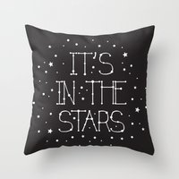 constellations Throw Pillows featuring Constellations  by Estaschia Cossadianos