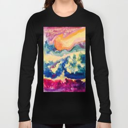 My Starry Watercolor Night Long Sleeve T-shirt
