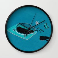 sport Wall Clocks featuring Sport Injuries by Zachary Huang