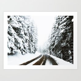 On The Way To The Summit Art Print