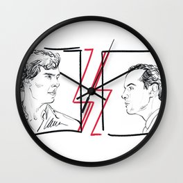 Divided (Sherlock and Jim) Wall Clock