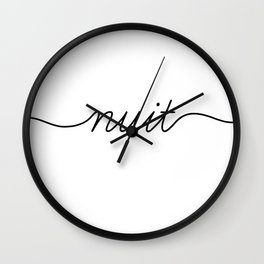 Bonne Nuit (2 of 2) Wall Clock