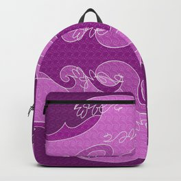 Waves V fuchsia colors V Backpacks Backpack