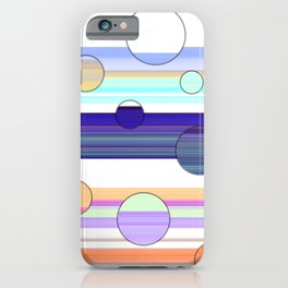 Dots and Stripes iPhone Case