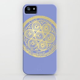 flower power: variations in periwinkle & gold iPhone Case