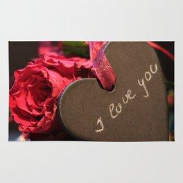Heart roses | Coeur avec des roses Rug