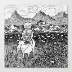 Sami fox Canvas Print