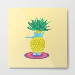 Pineapple Ellie Metal Print