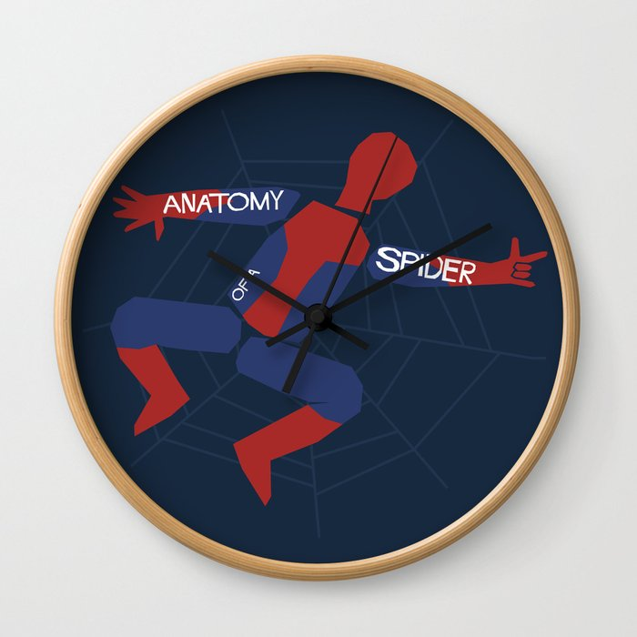 Anatomy Of A Spider Wall Clock By Byway Society6