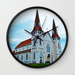 Big Old Wooden Church Wall Clock