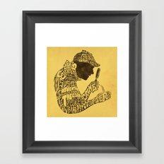 Man of Many Words Framed Art Print