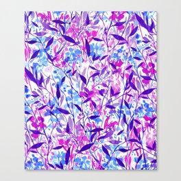 Wandering Wildflowers Violet Canvas Print