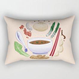Dumpling Diagram Rectangular Pillow
